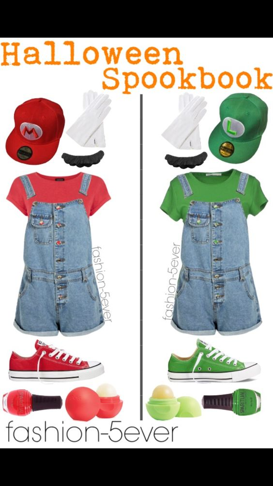 Mario and Luigi Halloween costumes for teen girls