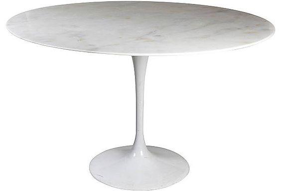 Saarinen Marble-Top Tulip Table