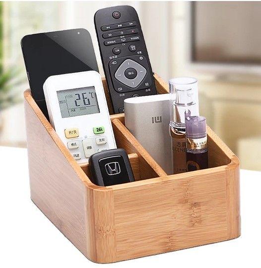 Remote Control Holder Decorative Wooden Boxes Remote Control