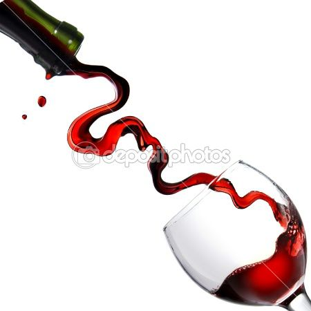 Pouring red wine in glass goblet by artjazz - Stock Photo