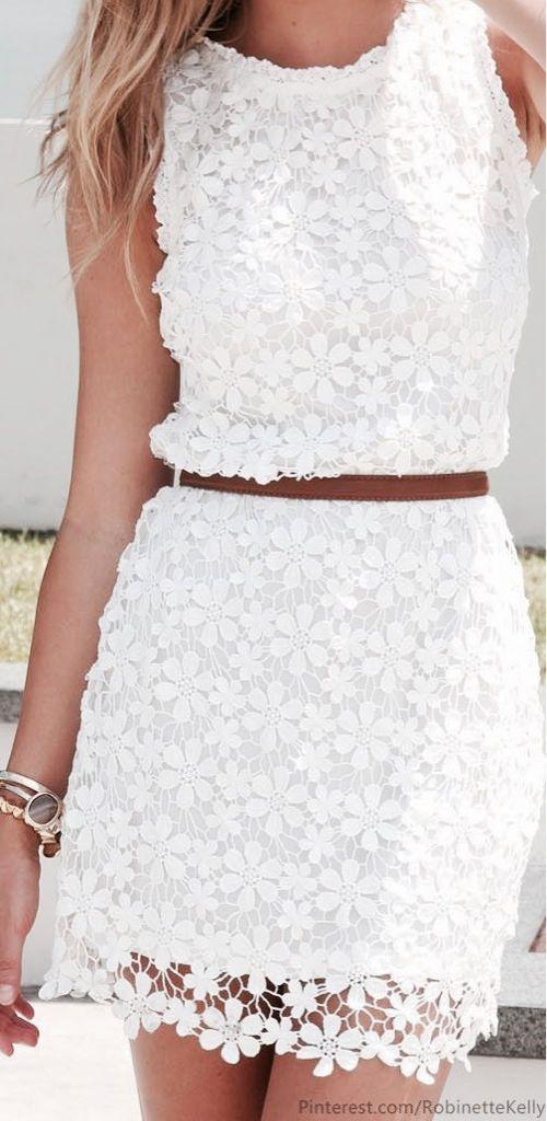 Vestido de encaje blanco hermoso y sexy 6
