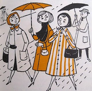 Illustration from 1950's children's book The Musical Umbrella by Friedrich Feld