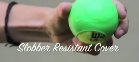 Say goodbye to slobber-soaked tennis balls that get dirty within minutes of playing fetch. Jokko transforms smelly tennis ball play time into good clean fun http://www.dfordog.co.uk/jokko-dog-tennis-ball-cover.html
