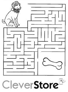 Hãy giúp chú chó tìm đường đến được chỗ giấu khúc xương :)