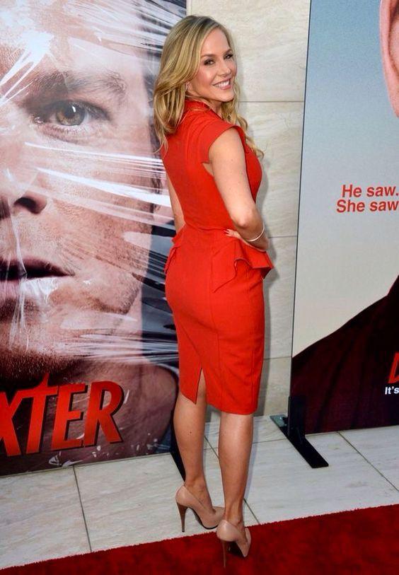 Julie Benz In A Red Dress And Heels Julie Benz