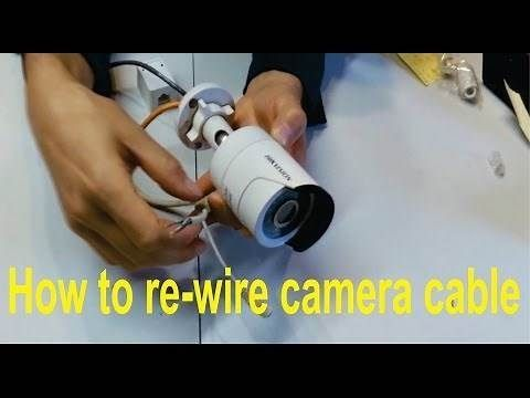 How To Re Wire A Broken Hikvision Camera Cable Rj45 How To Re Wire Hikvision Camera Cable This Diy Security Camera Security Camera Security Cameras For Home
