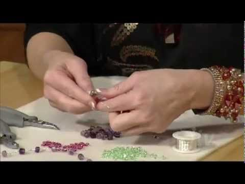 Video: How to Wire Crochet - Laura Timmons makes a simple, fast 3 strand, crocheted, then braided necklace with chain stitch.  Video shows basics like how to begin, how to hold the hook, how to add beads and how to finish with  a toggle clasp. #Wire #Jewelry #Tutorials