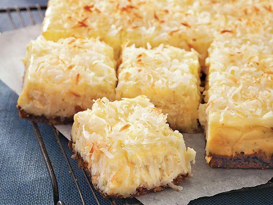 Coconut Cheesecake Squares