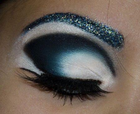 makeup glitter eyebrows