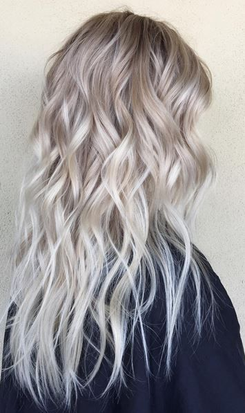 modern blonde ombre - tipped out blonde ends