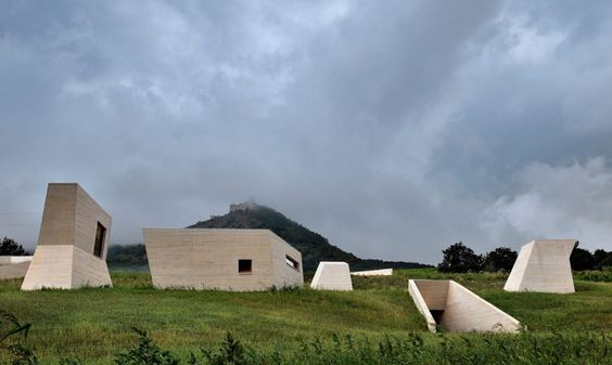 Czech archaeological museum springs out of the ground like a modern-day cave system: The Archeopark in Pavloc, Czech Republic is a modern tribute to ancient artifacts from the Paleolithic area, all housed in a mostly underground museum.