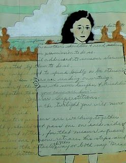 Amy Rice is also concerned by the lost art of letter writing and greedily hunts for the hand written letter to incorporate into her compositions and collages.