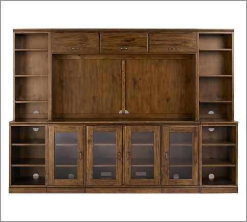 Printer's Media Suite with Hutch, Artisanal Black stain