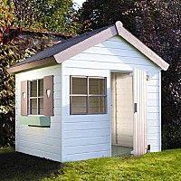Castorama jardipolys janaka maisonette cabane enfant bois peinte en bleu et b - Maison en bois peinte ...