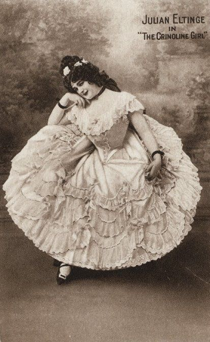 Female impersonator Julian Eltinge in 'The Crinolene Girl', 1914.