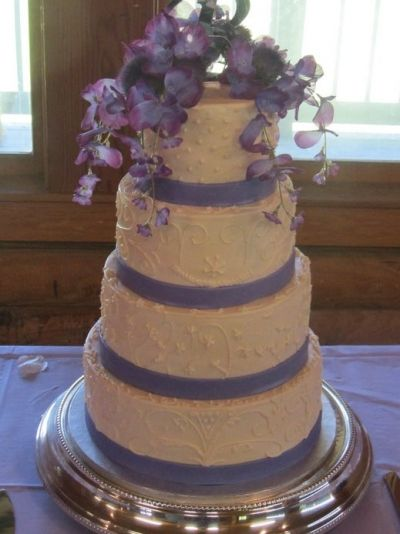 Wisteria Four Tier Wedding Cake By jenny39191 on CakeCentral.com