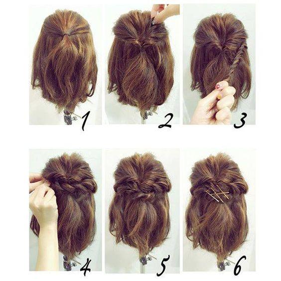 Coiffures Magnifiques Pour Cheveux Courts   Coiffure simple et facile