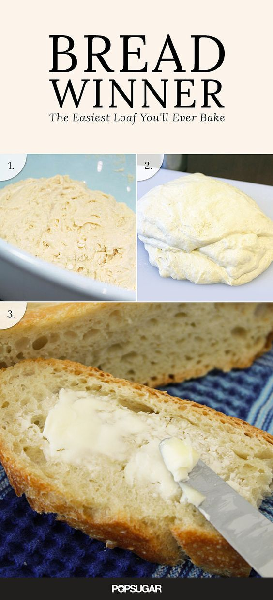 Bread Winner: The Easiest Loaf You'll Ever Bake. Mark Bittman 4 Hour No Knead Bread. POPSUGAR