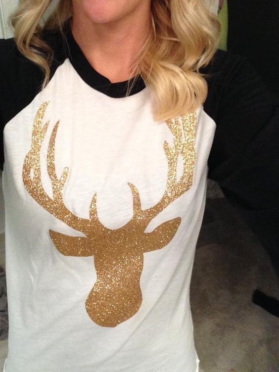 gold, glitter, and a buck...I think I NEED this :) (but as a bear of course)