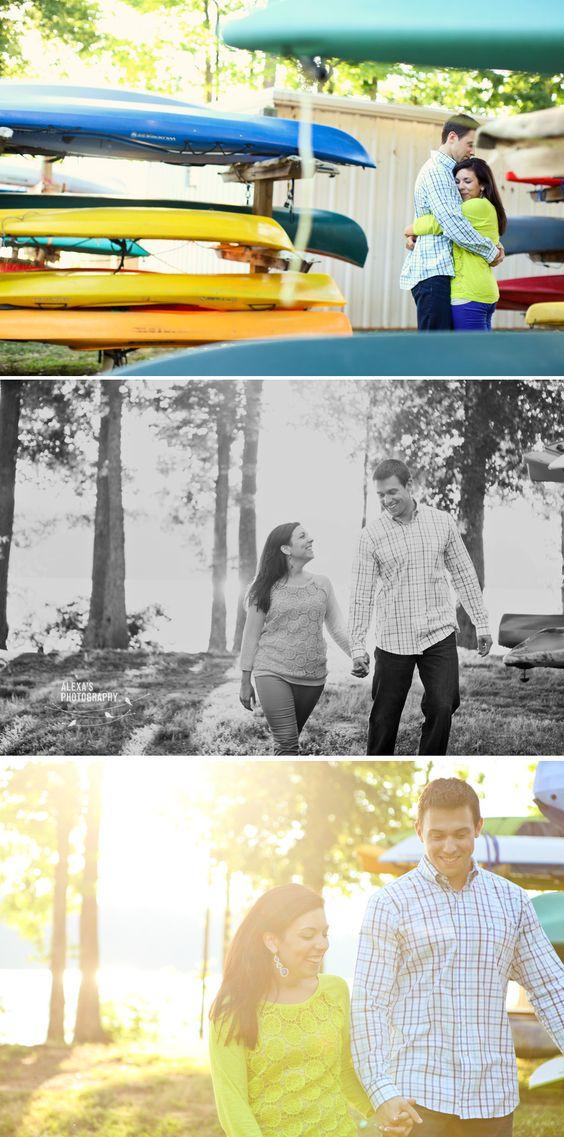 Chelsea + David's lake engagement session in Greensboro, NC.