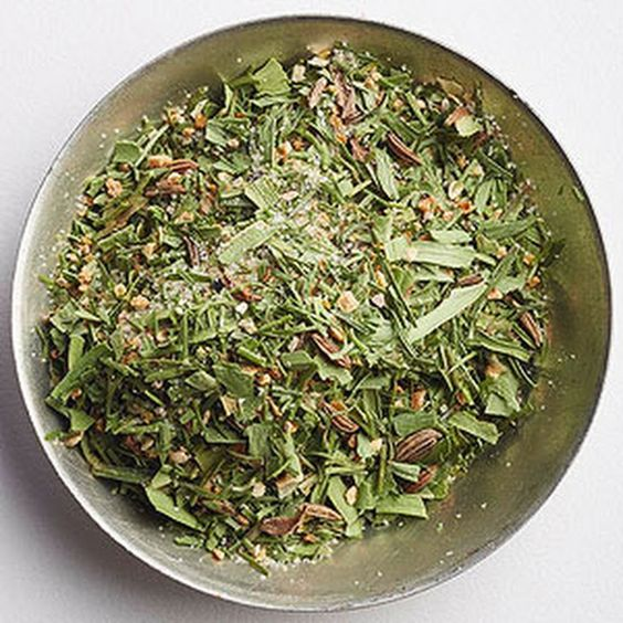 Scandinavian Lemon Spice Recipe with dried dillweed, dried tarragon leaves, dried lemon peel, onion powder, caraway seeds, ground black pepper