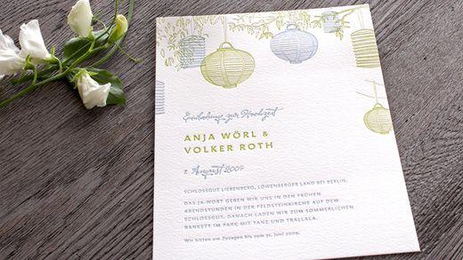 Hochzeitskarten Set Flowergarden Von Honeybird, Einladungskarte Mit  Englischen Blumen, Fein Geprägt Im Letterpress Aus Hamburg.