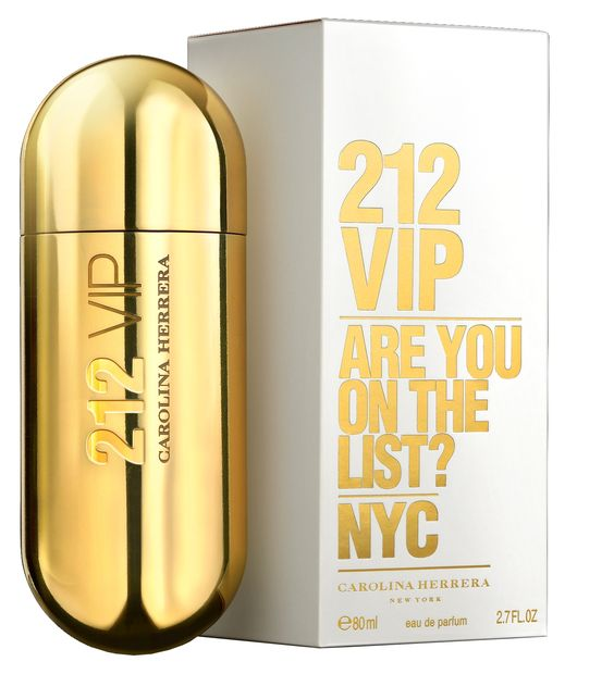 TRY: Carolina Herrera - 212 VIP   Fragrance introduced in 2010 by Carolina Herrera. Notes Consist Of Vanilla, Rum, Passion Fruit, Gardenia, Tonka Bean, And Musk. For Casual Use.