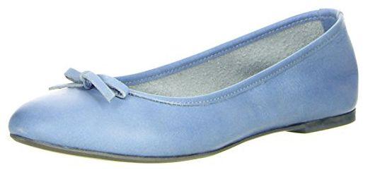 Cushla White Damen Ballerinas Blau, Größe:39;Farbe:Grau