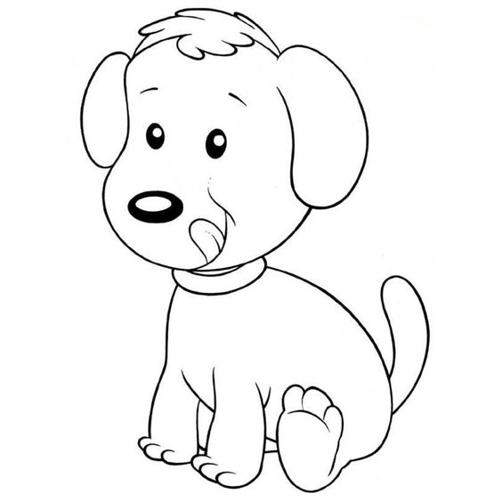 Dibujos de perros para colorear perros imprimir pintar - Dibujos naif para pintar ...