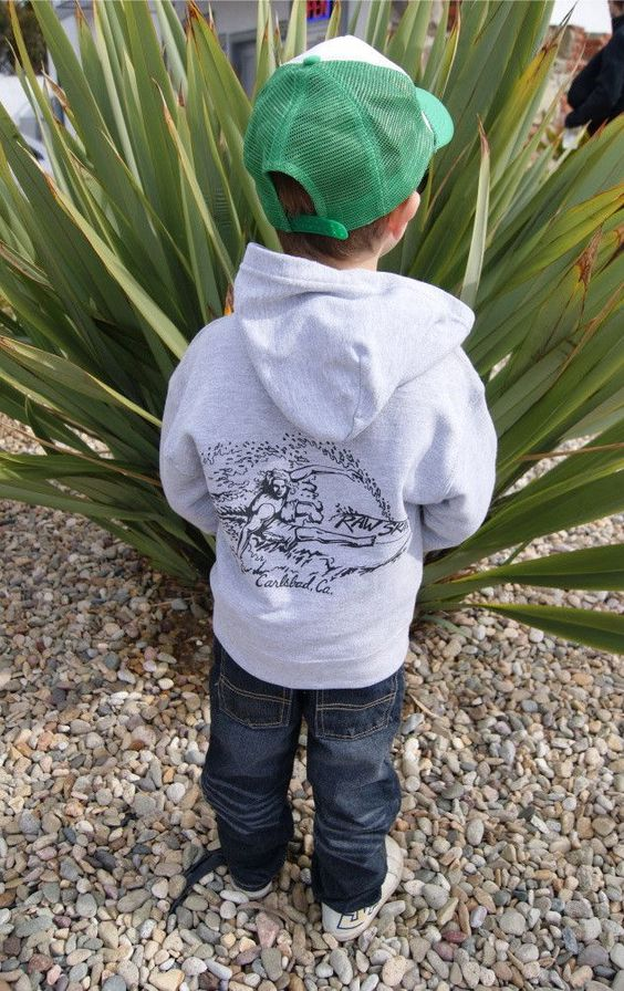 Raw Skin Infant Surfer Dude Zip-Up Sweatshirt