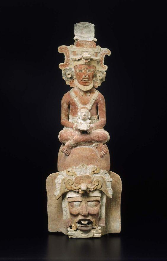 Human effigy incense burner top Maya, Early Classic Period A.D. 400–550 Tikal area, Department of El Petén, Guatemala Museum of Fine Arts, Boston