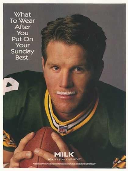 Green Bay Packer, Brett Favre -got milk?