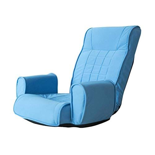 Foldable Lazy Lounge Small Sofa With Armrest Floor Chair Single Gaming Couch Reclining Bay Window Home Blue Folding Sofa Bed Folding Sofa