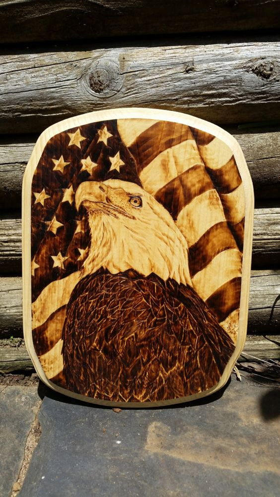 Super Cool Eagle Woodburning Very Merica Https Www