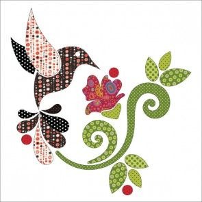 Hummingbird - Dotz - Applique Set