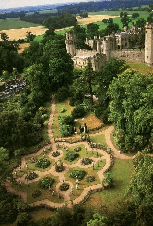 Warwick Castle, England. I've been there once, but would love to go back with my family.