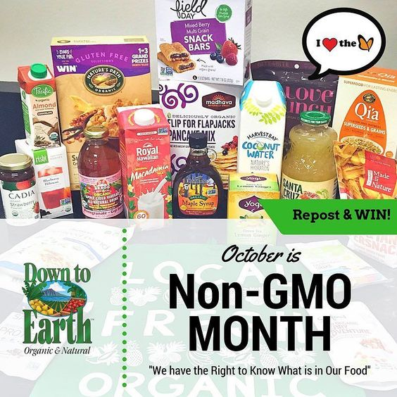 You have a right to know what youre eating and feeding your loved ones. October is Non-GMO Month! Learn more about why it's important for GMO Foods to be labeled d2e.co/LabelGMOfoods REPOST THIS POST  tag @downtoearthhi and you could win a giveaway bag full of Non-GMO Project Verfied Goodies ( a sweet reusable DTE bag!) worth over $100! We'll pick a random winner on Monday October 17th. Winner must reside on Oahu or Maui #nongmomonth