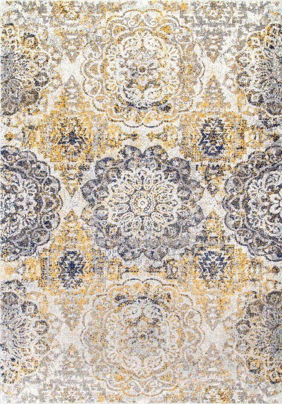 Kelvin Floral Gold Area Rug With Images Gold Rug Floral Rug