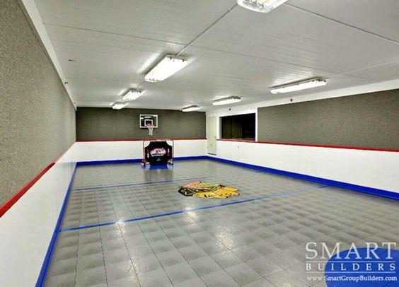 Basement Floor Hockey Rink Home Pinterest My Boys