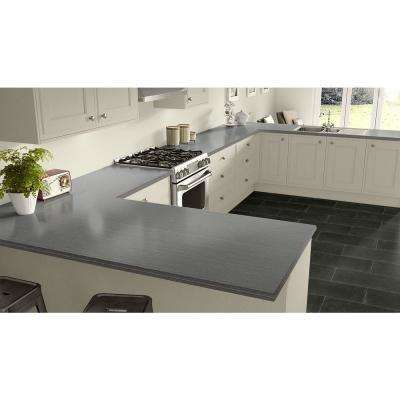 Gray Solid 5 X 12 Laminate Sheets Countertops The Home