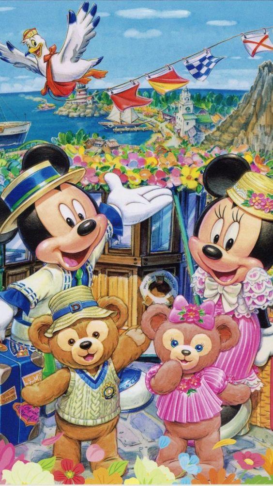 ダッフィーとシェリーメイとミッキーマウスとミニーマウス