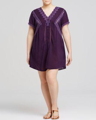 Johnny Was Collection Plus Crochet Trim Dress | Bloomingdale's