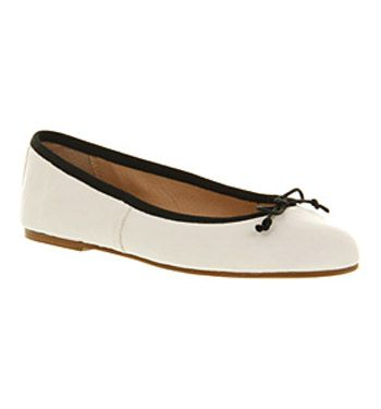 OfficeAcademic ballerina wht blk leather  £54.00