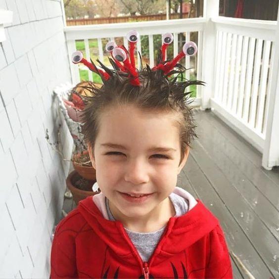 50 Easy Crazy Hair Day Ideas For School Boys With Short Hair Crazy Hair Day Boy Wacky Hair Days Crazy Hair Boys