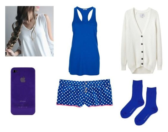 """""""Blue Pjs"""" by animeisawesome98 on Polyvore featuring T By Alexander Wang, Juicy Couture, Topshop and Each X Other"""