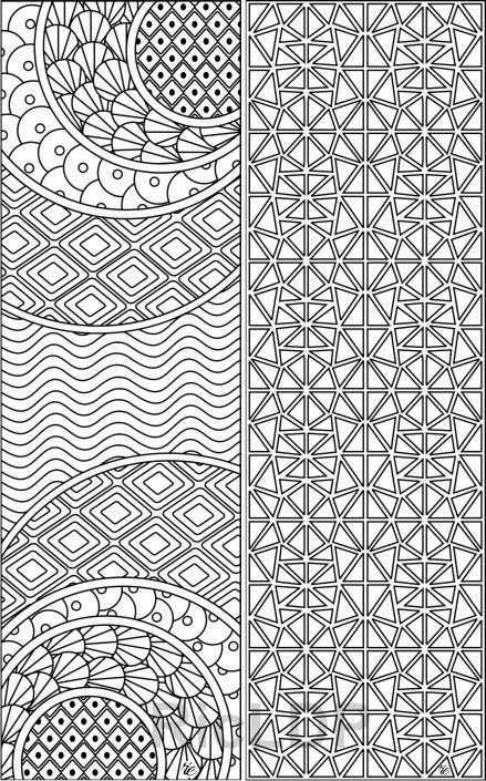 Set Of 8 Coloring Bookmarks With Calming Patterns Abstract Bookmark Templates Digital Download In 2020 Coloring Bookmarks Abstract Coloring Pages Pattern Coloring Pages