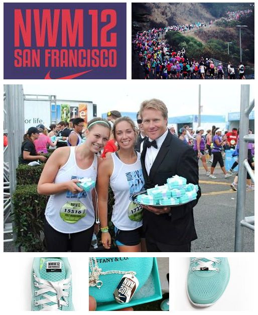 Nike Women's Marathon. you are given a Tiffany necklace by a fireman in a tuxedo when you finish. HELLO motivation...now I need to take up running