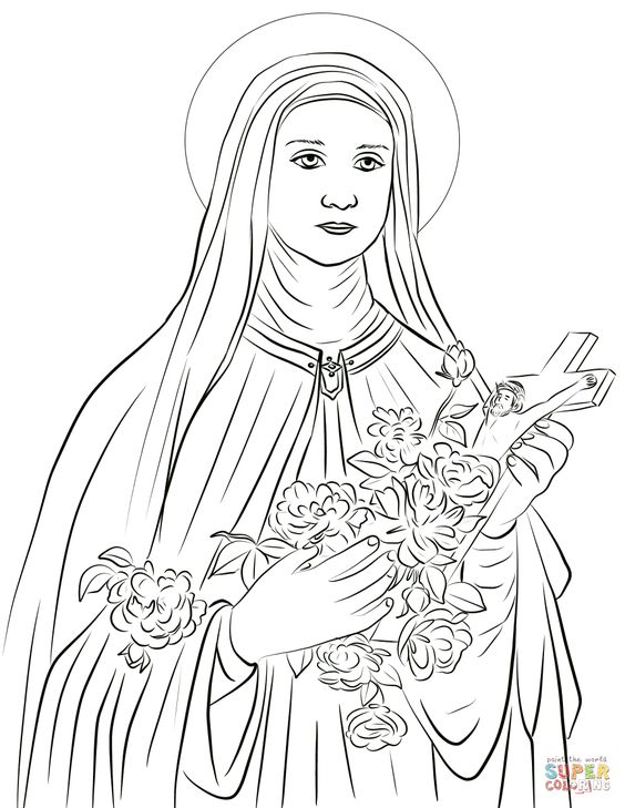 Saint Therese of Lisieux coloring page | Free Printable Coloring Pages
