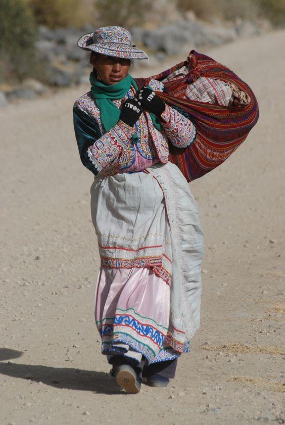 Příslušnice kmene Aymara