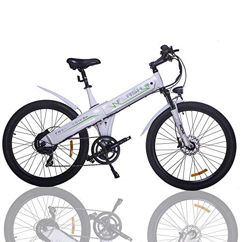 E Go 26 Inch White Electric Bicycle City E Bike 48v 500w Moped Pedal Assist Electric Bicycle Bike Bicycle